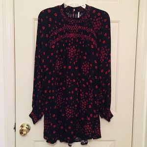 Free People floral high neck mini dress